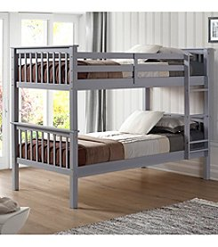 W. Designs Twin Over Twin Solid Wood Mission Design Bunk Bed