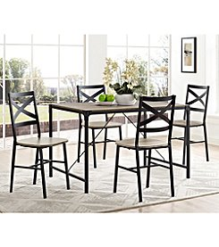W. Designs 5-Piece Angle Iron Wood Dining Set