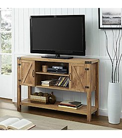 W. Design Barn Door Buffet Table Console TV Stand
