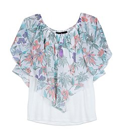 A. Byer Girls' 7-16 Short Sleeve Print Top
