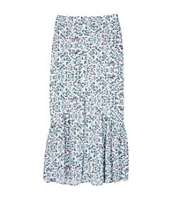 A. Byer Girls' 7-16 Midi Print Skirt