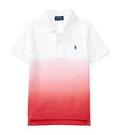 Polo Ralph Lauren® Boys' 2T-4T Dip-Dyed Short Sleeve Polo Shirt