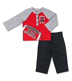 Cuddle Bear® Baby Boys' 2 Piece Quarterback top and pants Set