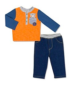 Cuddle Bear® Baby Boys' 2-Piece Bear Paw Set