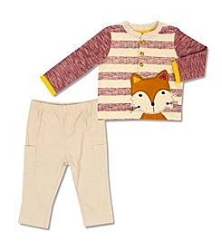 Cuddle Bear® Baby Boys' 2-Piece Fox Top And Khaki Set