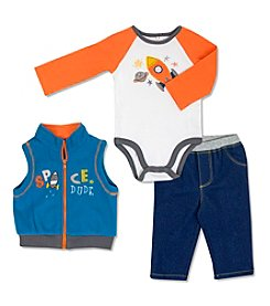 Cuddle Bear® Baby Boys' 3 Piece Space Vest Set