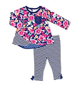 Cuddle Bear® Baby Girls' 2-Piece Floral Swing Top Set