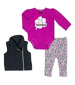Cuddle Bear® Baby Girls' 3-Piece Like Mom Vest Set