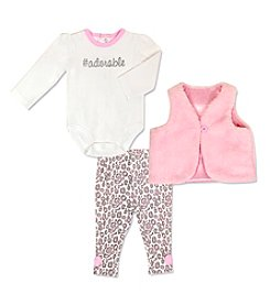 Cuddle Bear® Baby Girls' 3-Piece Adorable Vest Set