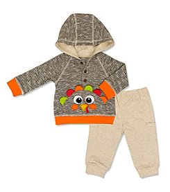 Cuddle Bear® Baby Boys' 3-12 Months 2-Piece Turkey Hoodie & Pants Set