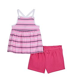 Nautica® Girls' 2T-6X Striped Tank and Shorts Set