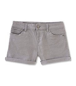 Calvin Klein Jeans Girls' 7-16 Shimmer Roll-Up Denim Shorts