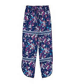 Amy Byer Girls' 7-16 Girls Print Soft Pants