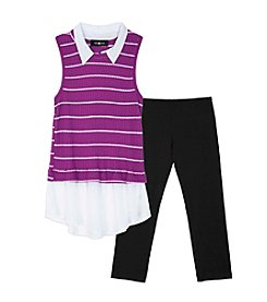Amy Byer Girls' 7-16 Girls 2 Piece Sleeveless Top And Leggings Set