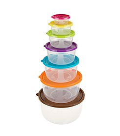 Classic Cuisiner 14 Piece Colored Food Storage Set - Round