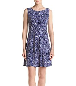 Connected® Sleeveless Purple Flounce Dress