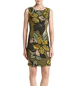 Connected® Olive Floral Shift Dress