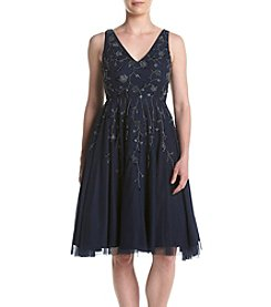 Adrianna Papell® Beaded Tea Length Dress