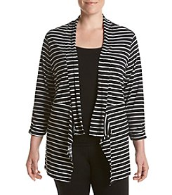 Chelsea & Theodore® Plus Size Striped Cardigan
