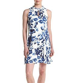 Ivanka Trump® Ruffled Keyhole Neck Dress