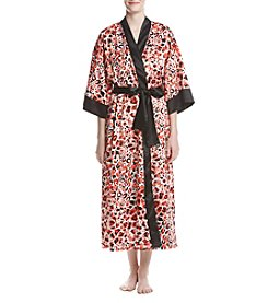 Jones New York® Satin Animal Printed Robe