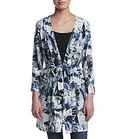Kensie® Tropical Blues Kimono Jacket