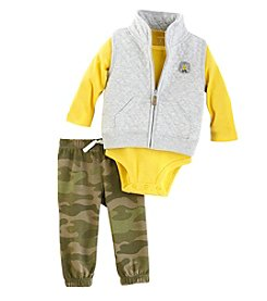 Carter's Baby Boys' 3-24 Months Patch Camo Vest Set