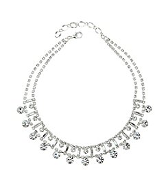 BT-Jeweled Crystal Choker Necklace