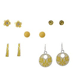Studio Works® Yellow Earrings Set