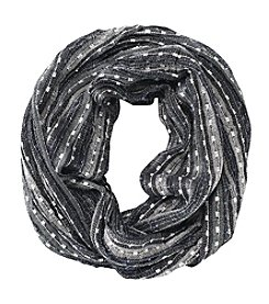 Basha Striped Lurex Loop Scarf