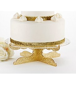 Kate Aspen Party Time Gold Glitter Acrylic Cake Stand