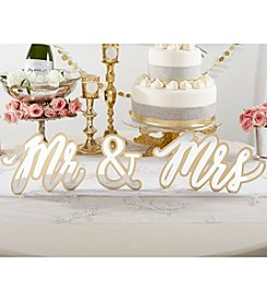 Kate Aspen Gold Mr. & Mrs. Sweetheart Table Sign