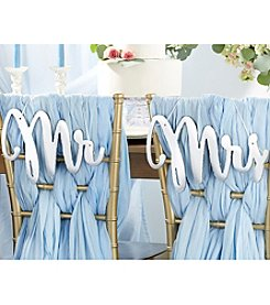 Kate Aspen Silver Mirror Mr. and Mrs. Chair Signs