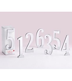 Kate Aspen Silver Mirror Table Numbers