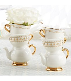 Kate Aspen Set of 12 Tea Time Whimsy Ceramic Bud Vases