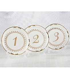 Kate Aspen Tea Time Vintage Plate 1-6 Table Numbers