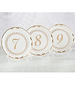 Kate Aspen Tea Time Vintage Plate 7-12 Table Numbers