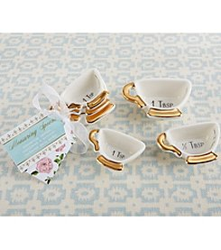Kate Aspen Set of 12 Tea Time Whimsy Ceramic Teacup Measuring Spoons