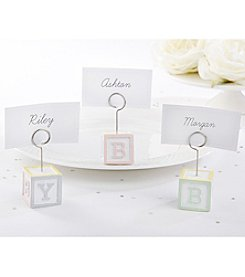 Kate Aspen Set of 12 Baby Blocks Favor Place Card Holders
