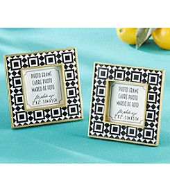 Kate Aspen Set of 12 Tropical Chic Tile Patterned Frames