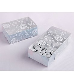 Kate Aspen Set of 24 Watercolor Frosted Floral Slide Favor Boxes