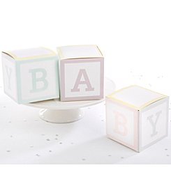 Kate Aspen Set of 24 Baby Blocks Favor Boxes
