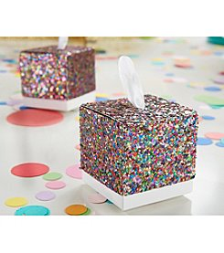 Kate Aspen Set of 24 Multicolor Glitter Favor Boxes