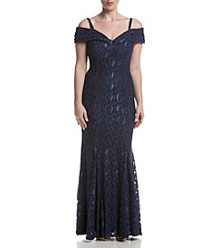 R&M Richards® Petites' Long Empire Dress