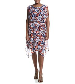 AGB® Plus Size Floral Dress