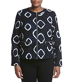 Jones New York® Plus Size Diamond Tie Dye Printed Jacket