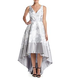 Betsy & Adam® Printed High-Low Gown