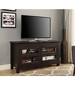 W. Design Wood TV Media Stand Storage Console
