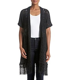 Jones New York® Crochet Tassel Trim Cardigan