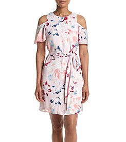 Ivanka Trump® Cold Shoulder Printed Dress